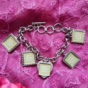 Jewelry - Picture frames charm bracelet silver tone locket